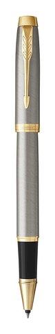 Набор с гравировкой: Ежедневник недатированный и Ручка-роллер Parker IM Metal, T223, цвет: Brushed Metal GT123
