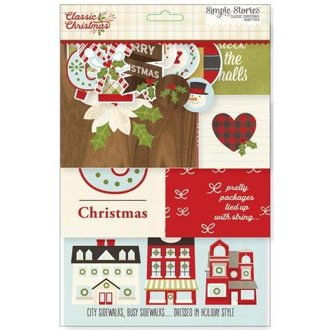 Набор карточек для Project Life -Sn@p! -Classic Christmas-113шт