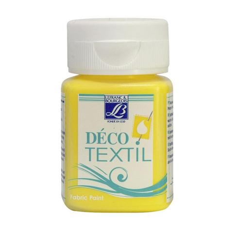 Краска по ткани Lefranc&Bourgeois DECO TEXTIL 50 мл 172, бледно-желтый