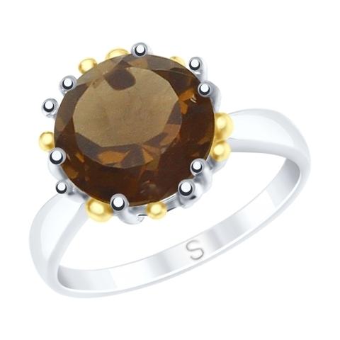 Кольцо из серебра с раухтопазом арт. 92011722