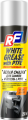 16482N RUSEFF Грязеотталкивающая белая смазка для замков и петель с PTFE 250 мл (аэрозоль)
