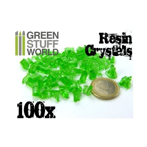 GREEN Resin Crystals