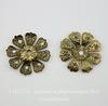 "Шапочка для бусины ""Цветок"" филигрань (цвет - античная бронза) 20х2 мм, 10 штук"