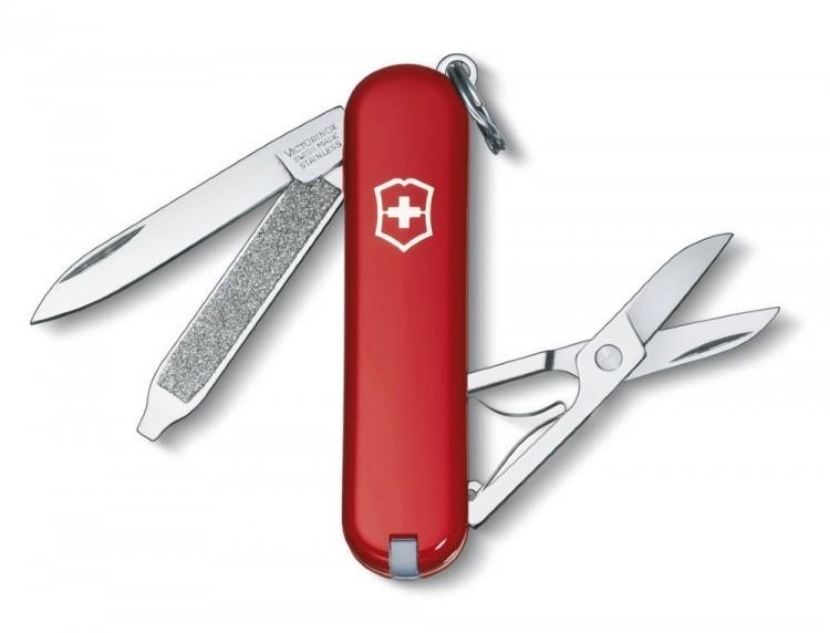 Швейцарский нож Victorinox EcoLine, 58 мм, 7 функ, красный матовый  (2.6223)