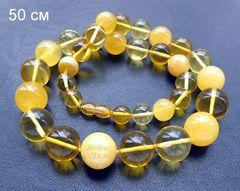 бусы из янтарных шаров до 17 мм