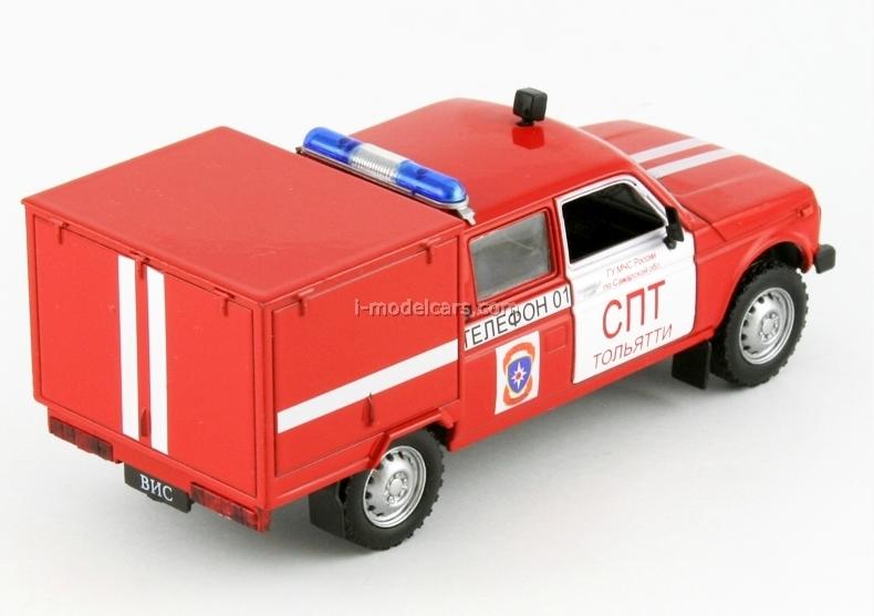 VAZ-2121 Lada Niva VIS-294611 Fire Engine 1:43 DeAgostini Service Vehicle #23