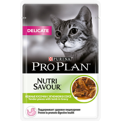 Pro plan nutrisavour delicate with lamb cat (pouch gravy)