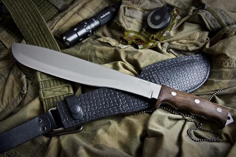 Охотничий нож Кайман Полированный Орех