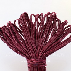Сутаж, 3х1 мм, цвет - марсала, примерно 1 м
