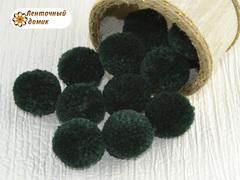 Помпоны из пряжи 3 см еловые