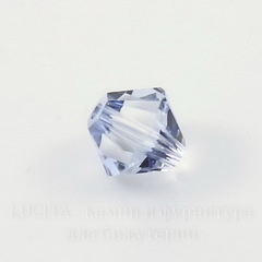 5328 Бусина - биконус Сваровски Crystal Blue Shade 6 мм, 5 штук