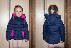 """Куртка дет. """"Для девочек"""" Темно-синяя"""