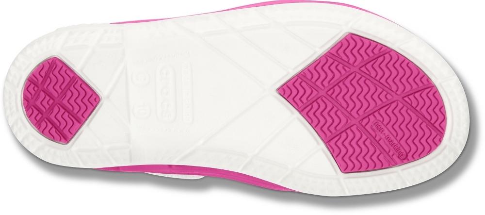 Мокасины для девочек CROCS Beach Line Boat Shoe Kids C (розовые)
