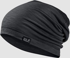 Шапка-бини тонкая Jack Wolfskin Travel Beanie black (55-59см)