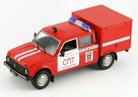 VAZ-2121 Lada Niva VIS-294611 Fire Engine 1:43 DeAgostini Service Vehicle #23