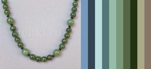цветовая палитра для одежды под бусы из зелёного нефрита