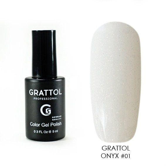 Onyx Grattol, Гель-лак Luxury Stones № 01, Onyx, 9 мл Onyx_01.jpg
