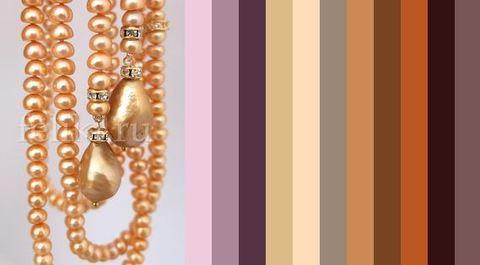 примерная цветовая палитра для одежды под золотистый жемчуг