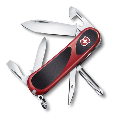 Нож Victorinox EvoGrip 11, 85 мм, 13 функций, красный с чёрным