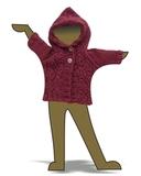 Кофта с капюшоном - Демонстрационный образец. Одежда для кукол, пупсов и мягких игрушек.