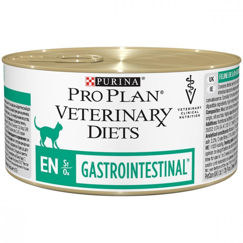 cea8f95a2ddaa1 Влажные корма Консервированный корм для кошек, Purina Pro Plan Veterinary  Diets FELINE EN Mousse,