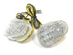 Поворотники капельки встраиваемые в пластик для мотоциклов Kawasaki Прозрачный