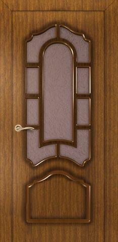 Дверь Румакс Соната ДО, стекло дельта-бронза, цвет орех, остекленная