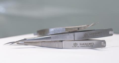 Ножницы для кожи изогнутые B-907 (Sakramel)