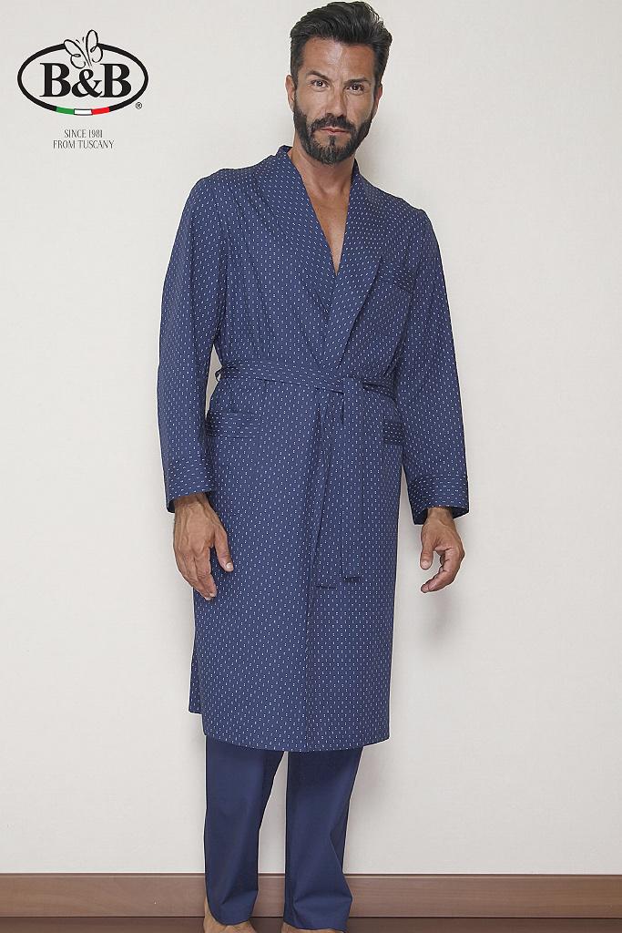 Мужской халат с жаккардовым рисунком B&B
