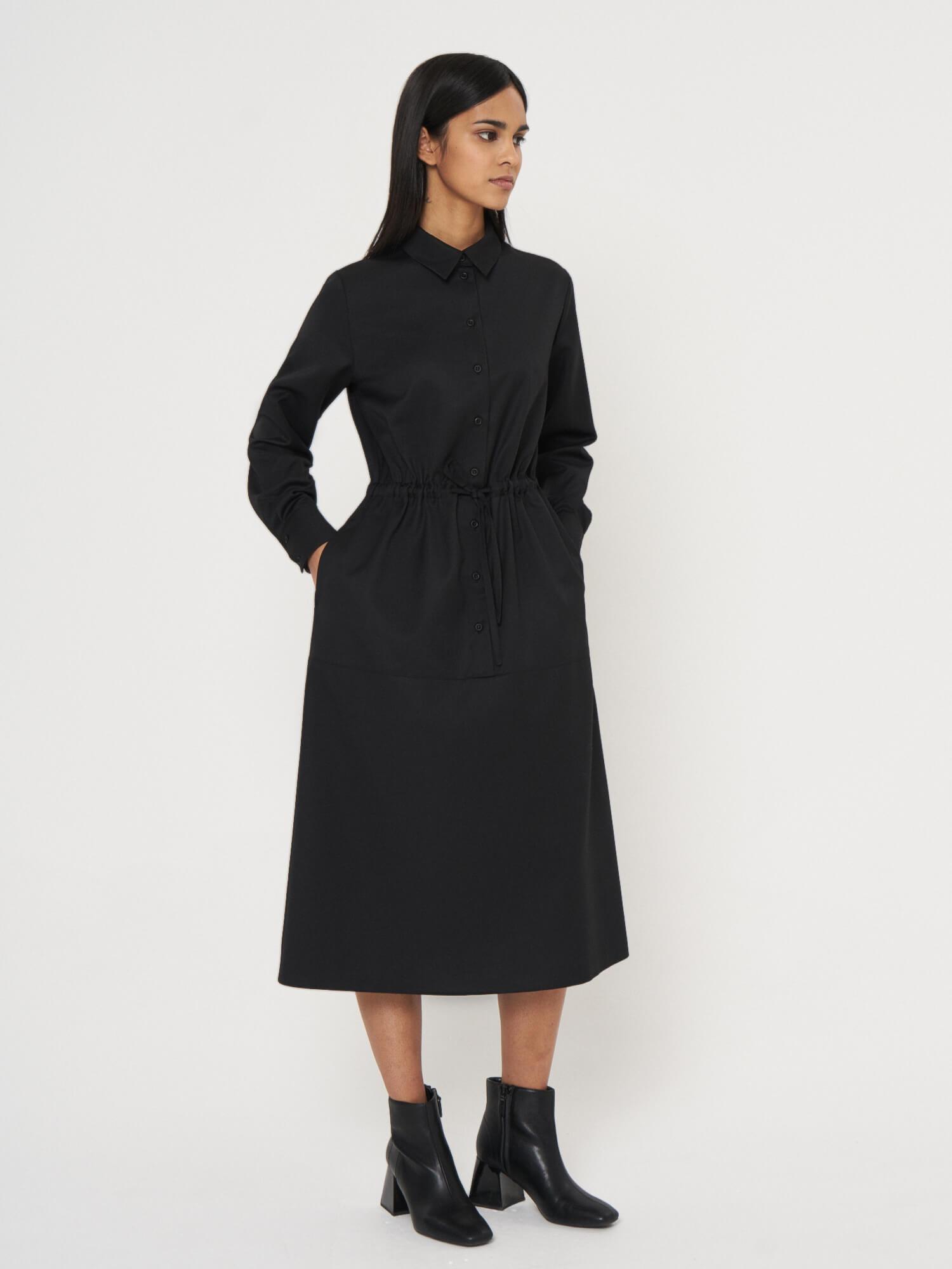 Платье-рубашка с кулисой Karen