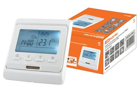 Термостат для теплых полов электронный ТТПЭ-1 16А 250В с датчиком 3м TDM