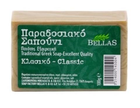 Натуральное оливковое мыло зеленое Bellas 100 гр