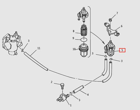Прокладка стакана карбюратора для лодочного мотора T9.8 Sea-PRO (5-6)