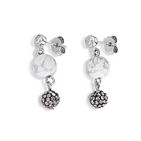 Серьги Coeur de Lion 4845/21-1214 цвет белый, серый, серебряный