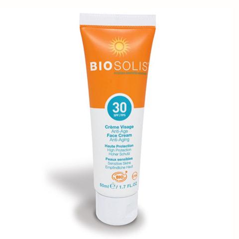 BioSolis, Крем солнцезащитный для лица SPF 30, 50мл