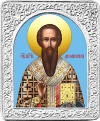 Святой Дионисий. Маленькая икона в серебряной раме.