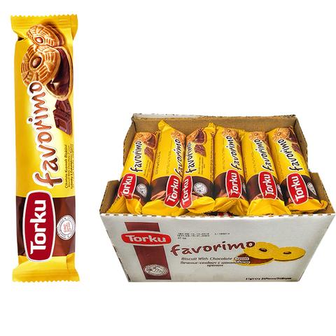 FAVORIMO Печенье-сендвич с шоколадным кремом 1кор*4бл*24шт 61гр.
