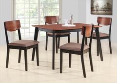 """Комплект """"MK-5302-BF"""" (1 стол + 4 стула) —  Черный/Терракотовый"""