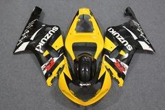 Комплект пластика для мотоцикла Suzuki GSX-R600/750 01-03 Желто-Черный