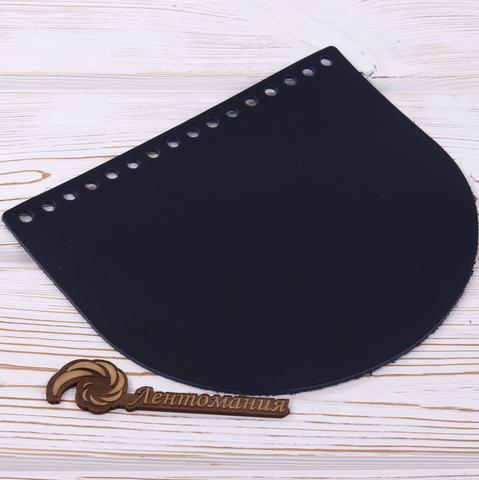 """Клапан для сумочки кожаный """"Ночное небо"""" 19 см на 16см"""