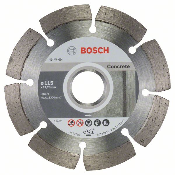 Алмазный диск Standart for Concrete 115/22,23 10 шт Bosch 2608603239