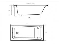 Ванна акриловая Cersanit Lorena 150*70 см