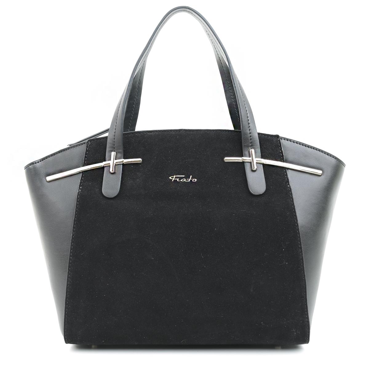 5432 Fiato  кожа /замша черный (сумка женская)