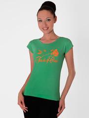 L61-2 футболка женская, зеленая