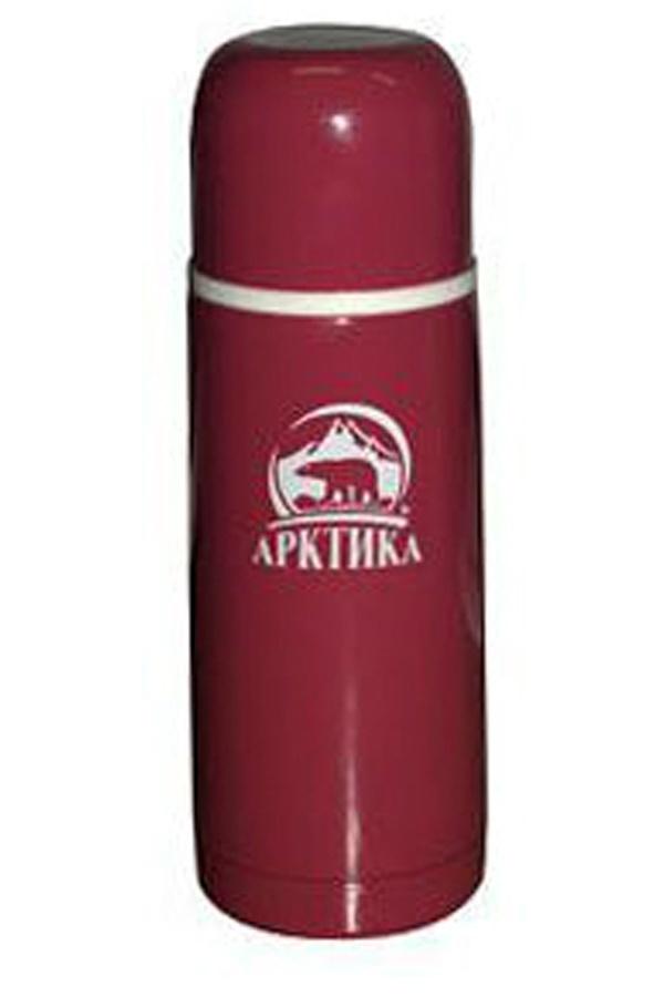 Термос Арктика (0,35 литра) с узким горлом классический, гранатовый