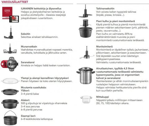 Кулинарный процессор KitchenAid ARTISAN, объем 4.5 л., карамельное яблоко, 5KCF0103ECA