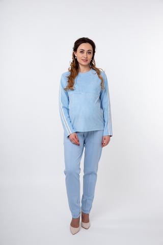 Спортивный костюм для беременных и кормящих 09881 голубой