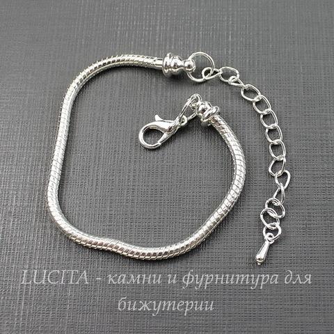 """Основа для браслета """"Пандора"""" 16 см (цвет - серебро)"""