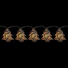 Светодиодная гирлянда «Деревянные резные елочки», CL124 (Feron)