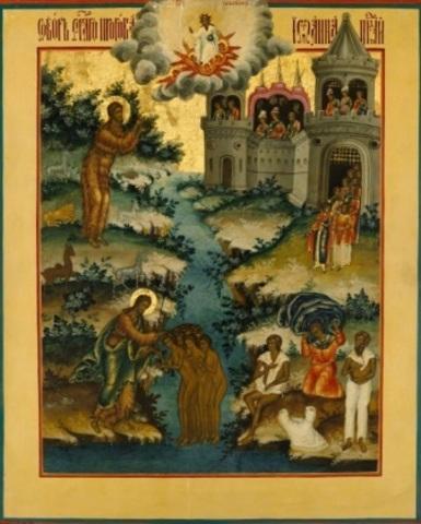 Икона Собор святого Иоанна Предтечи и Крестителя Господня на дереве на левкасе мастерская Иконный Дом